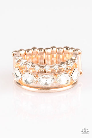 Paparazzi Backstage Sparkle Ring-Rose Gold