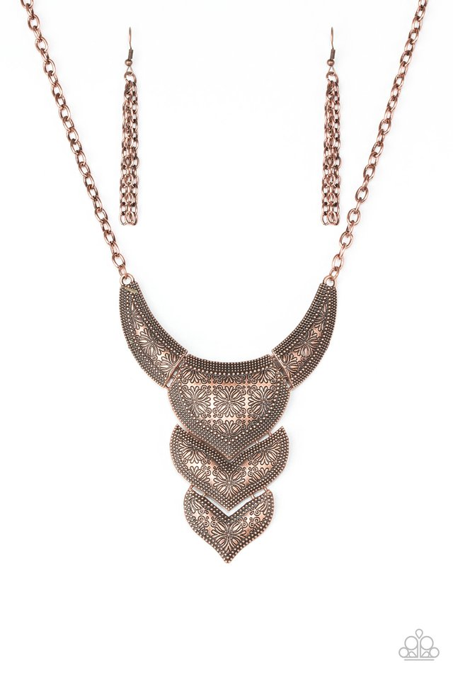Texas Temptress - Copper Necklace - Paparazzi Jewelry