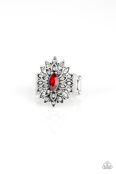 Paparazzi Blooming Fireworks Ring-Red