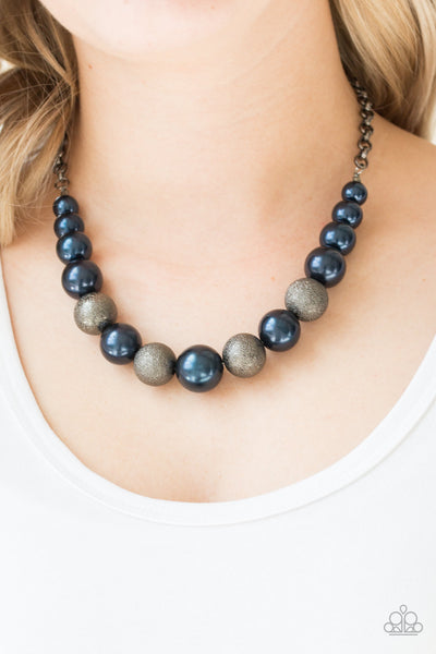 Color Me CEO - Blue Pearl Necklace - Paparazzi Accessories