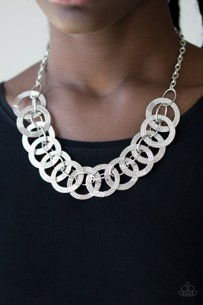The Main Contender - Silver Necklace - Paparazzi Accessories
