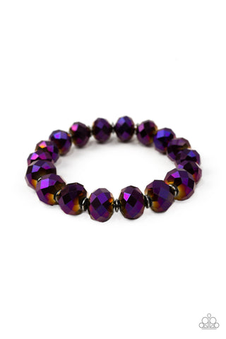 Paparazzi Beautifully Bewitching Bracelet-Purple