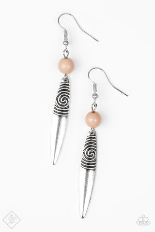 Paparazzi Catch My Drift Earrings-Brown
