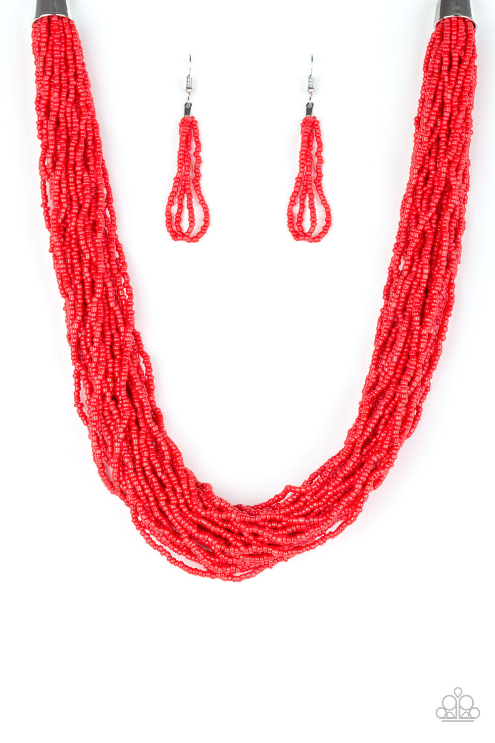 The Show Must CONGO On! - Red Seed Bead Necklace - Paparazzi Accessories