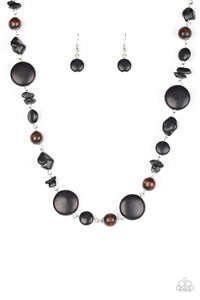 Paparazzi Canyon Collection Necklace-Black