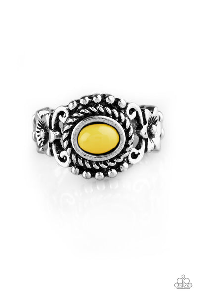 Paparazzi All Summer Long Ring-Yellow