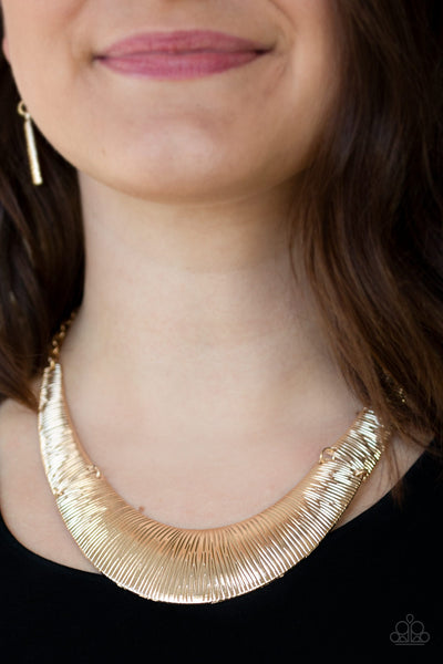 Paparazzi Feast or Famine Necklace-Gold