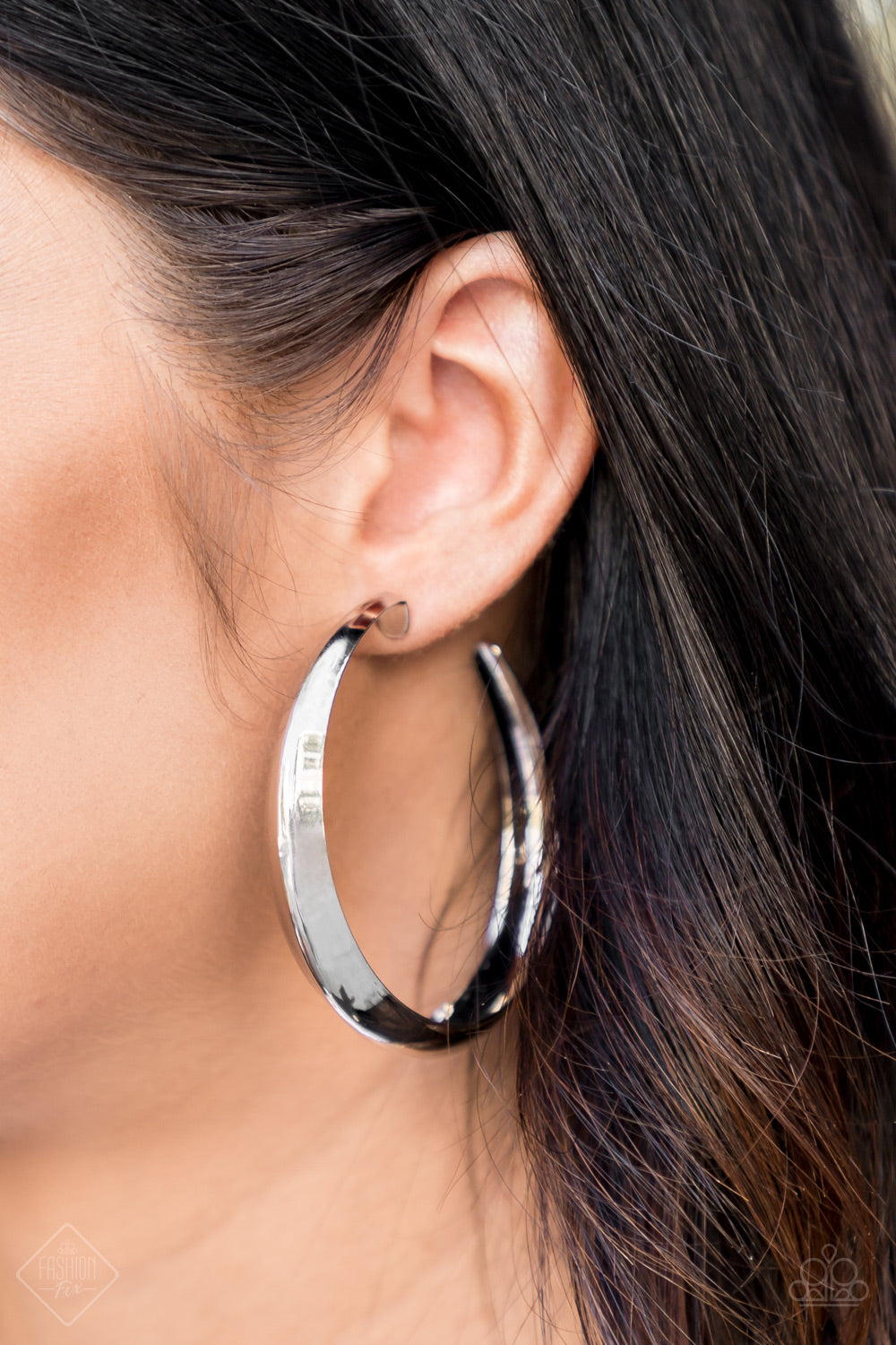 Paparazzi Let's Get Ready To Rumble Hoop Earrings -  Silver