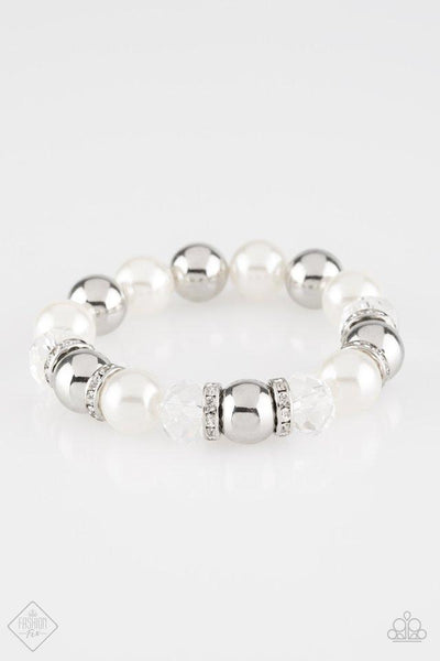 Camera Chic - White Bracelet - Paparazzi Accessories