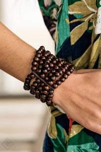 Paparazzi Maui Mojito Wooden Bracelet - Brown