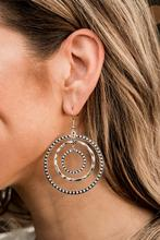 Texture Takeover - Silver Hoop Earrings - Paparazzi Accessories