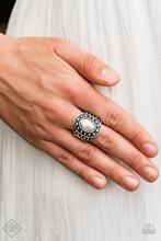 Stacked Stunner - Silver Beaded Ring - Paparazzi Accessories