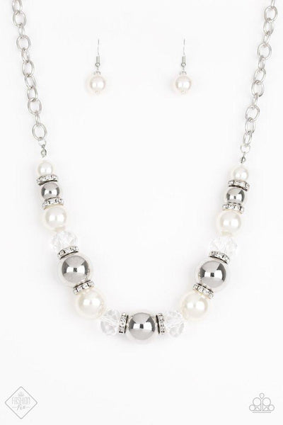 The Camera Never Lies - White Pearl Necklace - Paparazzi Accessories