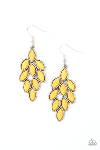 Flamboyant Foliage - Yellow Earrings - Paparazzi Accessories