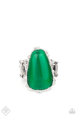 Newport Nouveau - Green Ring - Paparazzi Accessories