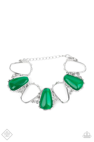 Yacht Club Couture - Green Bracelet - Paparazzi Accessories