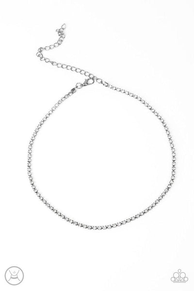 Pitch PURR-fect - White Choker Necklace - Paparazzi Accessories