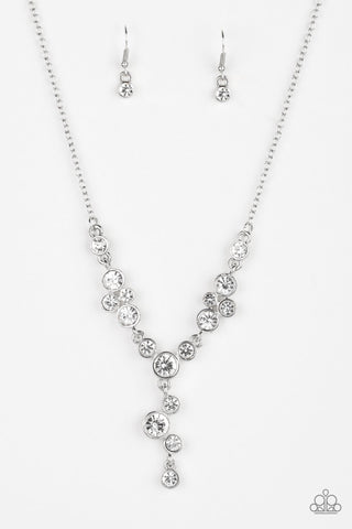 Paparazzi Five-Star Starlet Necklace-White