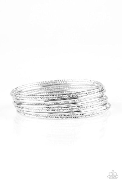Paparazzi Bangle Babe Bracelet- Silver
