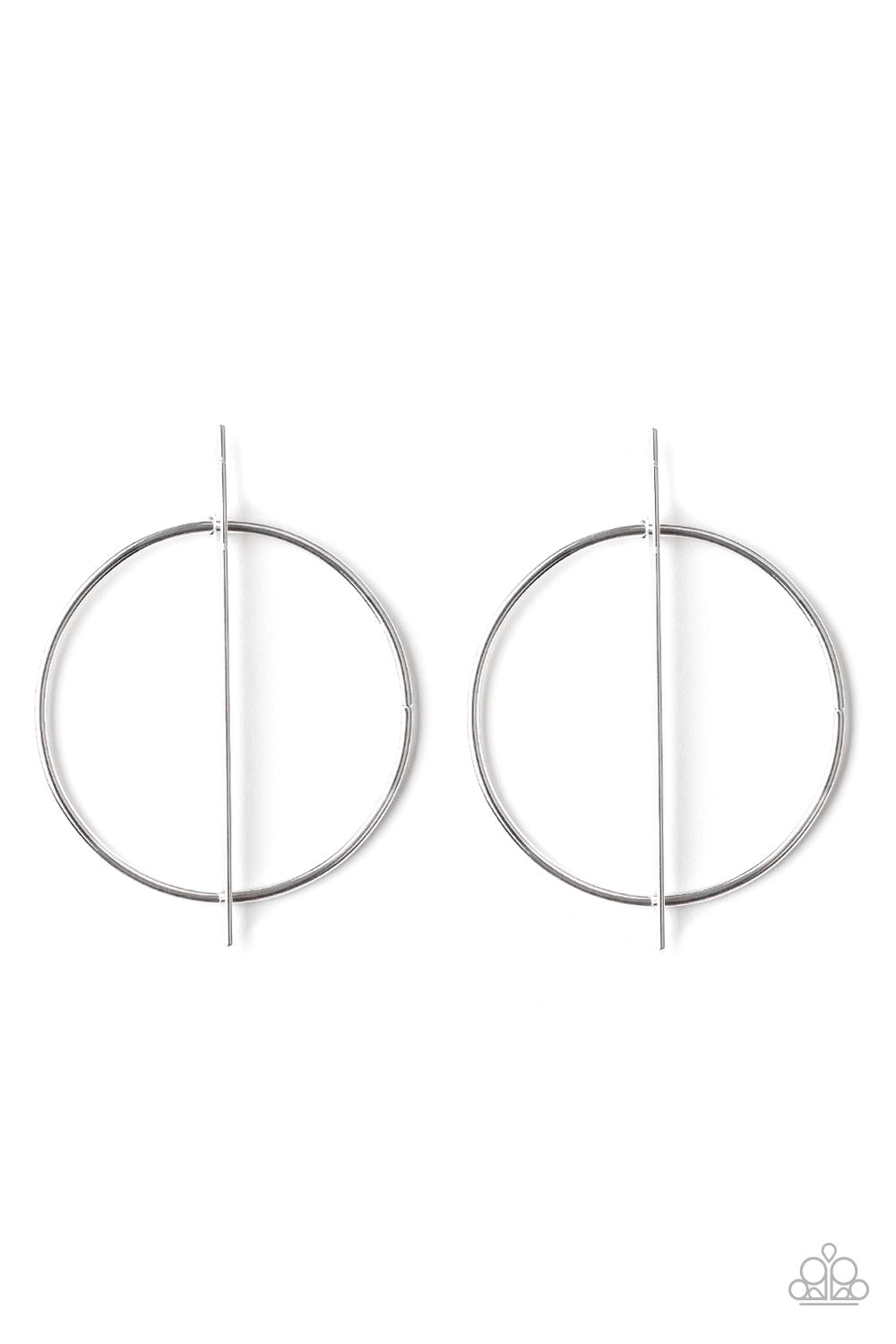 Paparazzi Vogue Visionary's Hoop Earring- Silver