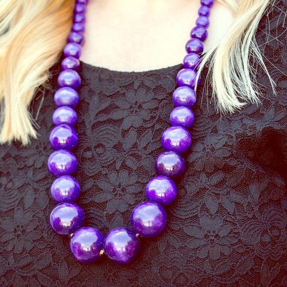 Paparazzi Effortlessly Everglades Necklace-Purple