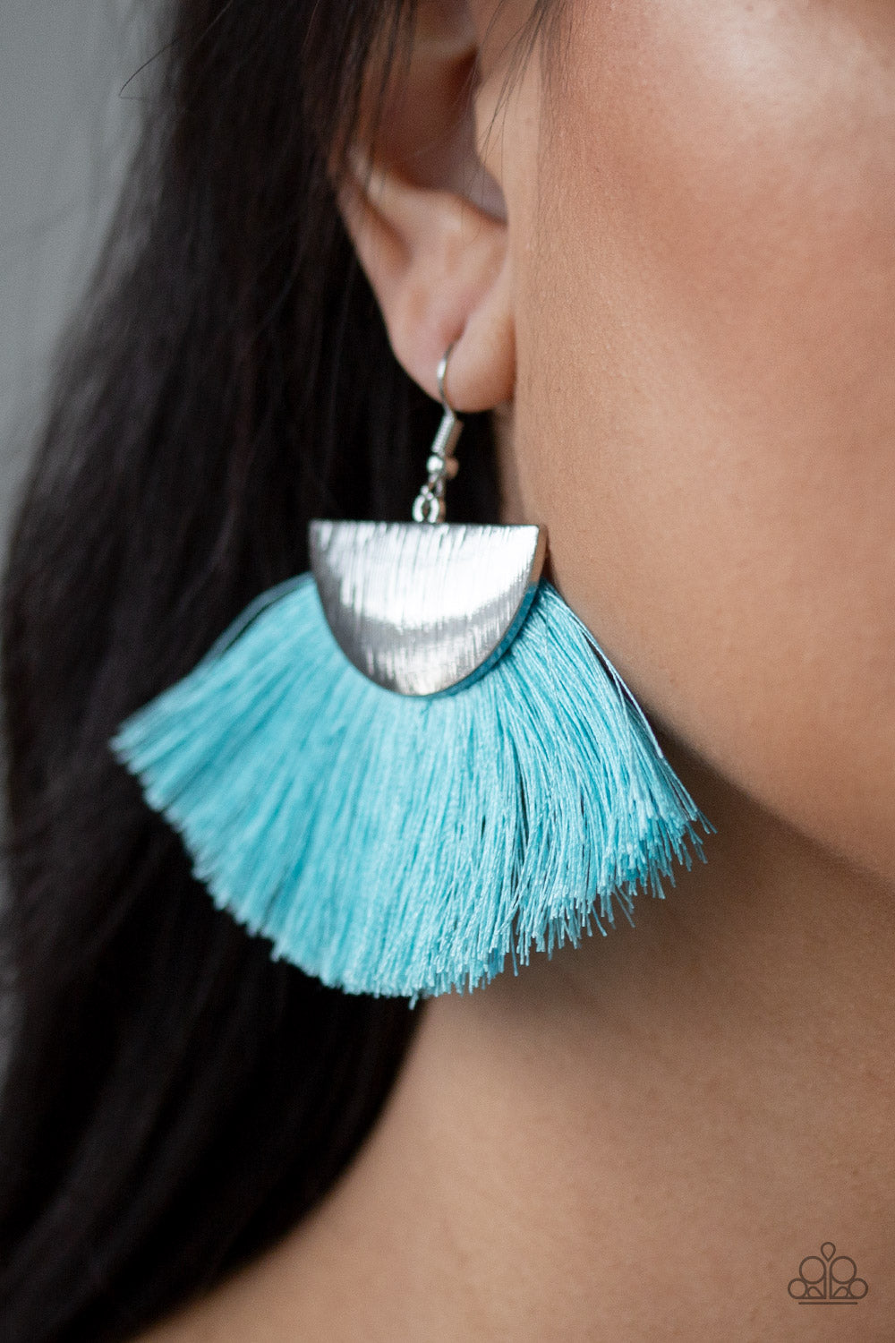 Paparazzi Fox Trap Fringe Earrings - Blue