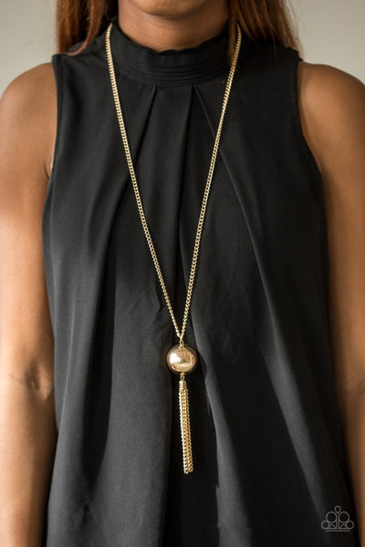 Big Baller - Gold Necklace - Paparazzi Accessories