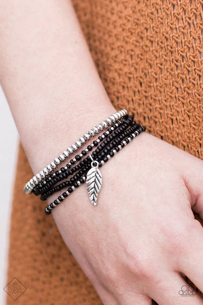 West Wing - Black Beaded Bracelet - Paparazzi Accessories