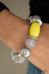 BAY After BAY - Yellow Beaded Bracelet- Paparazzi Accessories