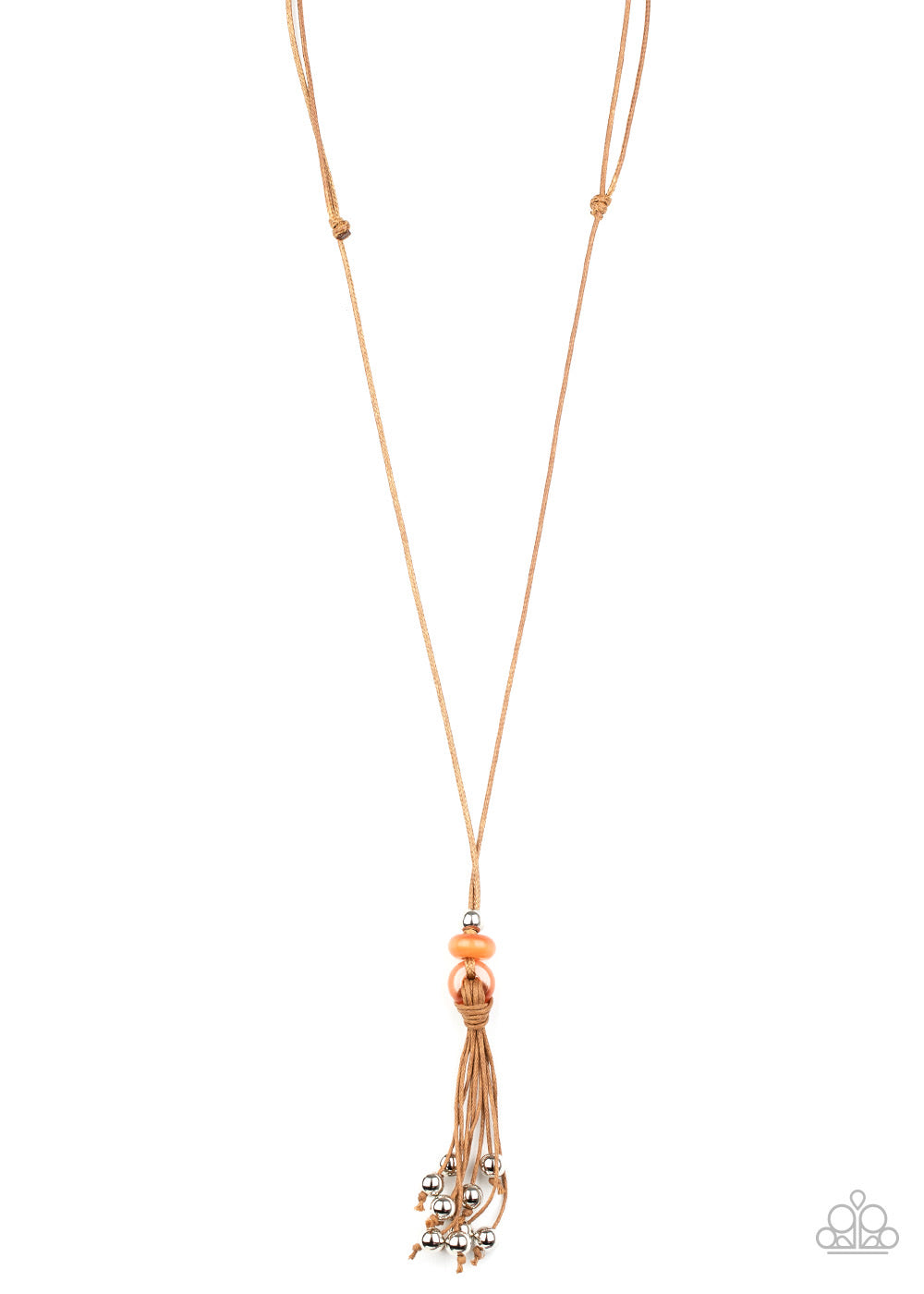 Ocean Child - Orange Urban Necklace - Paparazzi Accessories