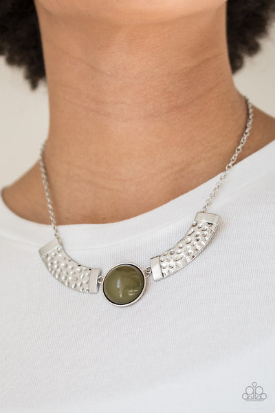 Egyptian Spell - Green Necklace - Paparazzi Accessories