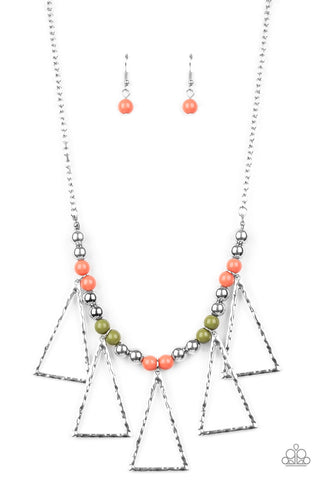 Terra Nouveau - Multi Color Necklace - Paparazzi Accessories