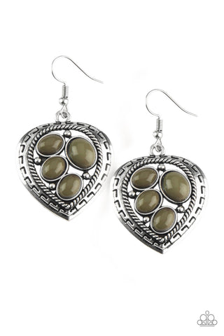 Wild Heart Wonder - Green Earrings - Paparazzi Accessories