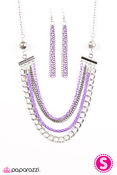 High-Intensity - Purple  Necklace - Paparazzi Accessories