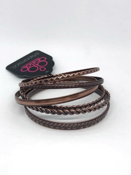 Rattle and Roll - Copper Bangles - Paparazzi Accessories