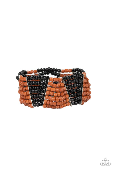 Paparazzi Outback Outing Seed Bead Bracelet - Black