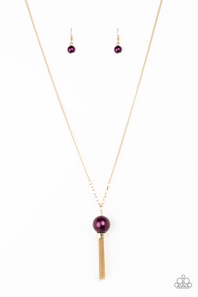 Belle Of The Ballroom - Purple Necklace- Paparazzi Accessories