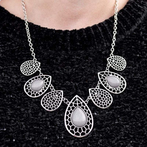 Jungle Jane - Silver Necklace - Paparazzi Accessories