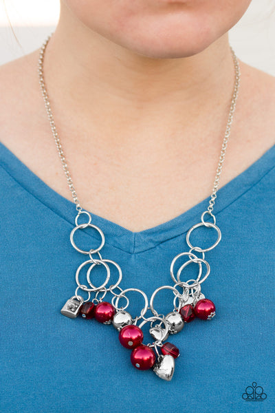 In A Bind - Red Necklace - Paparazzi Accessories