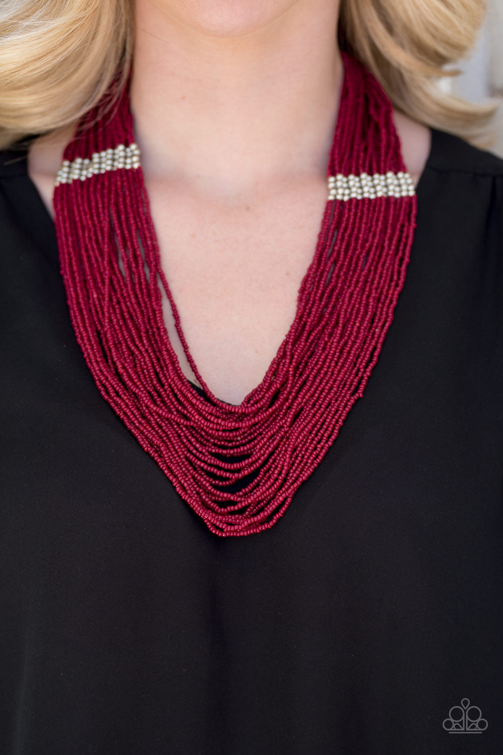 We Got The Bead - Red Seed Bead Necklace - Paparazzi Accessories