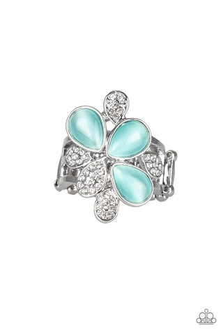 Diamond Daises - Blue Moonstone Rhinestone - Paparazzi Accessories