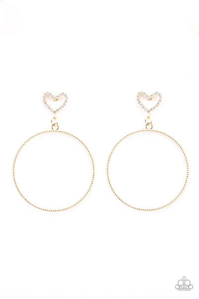 Love Your Curves - Gold Earrings - Paparazzi Accessories