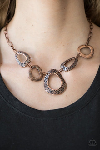 Very Cave-alier - Copper Necklace -Paparazzi Accessories