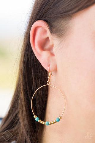 Say A Little PRAIRIE - Blue Stone Earrings - Paparazzi Accessories