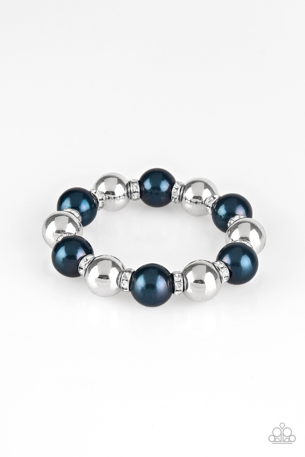 So Not Sorry - Blue Pearl Bead Bracelet - Paparazzi Accessories