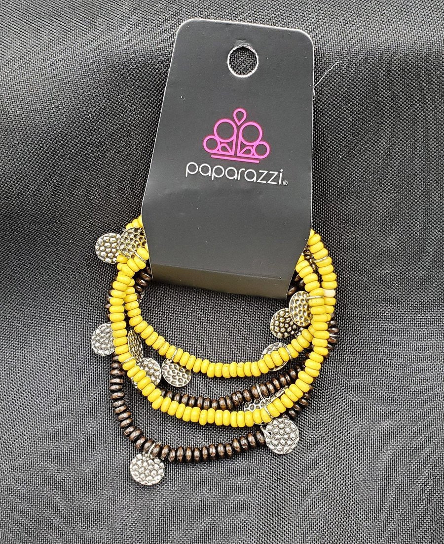 WOODn't Count It - Yellow Bracelet - Paparazzi Accessories