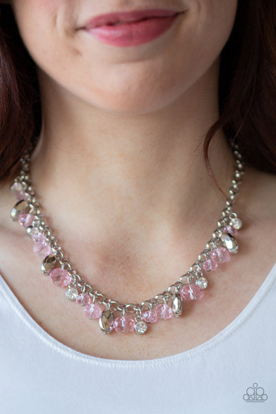 Downtown Dazzle - Pink Necklace - Paparazzi Accessories