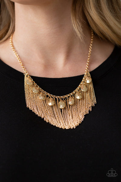 Bragging Rights - Gold Necklace- Paparazzi Accessories