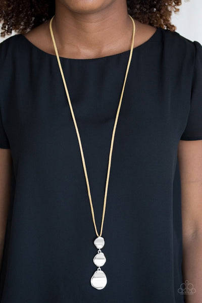 Embrace the Journey - Yellow  Necklace - Paparazzi Accessories