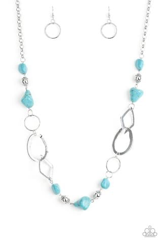 That's TERRA-ific - Blue/Silver Necklace - Paparazzi Accessories